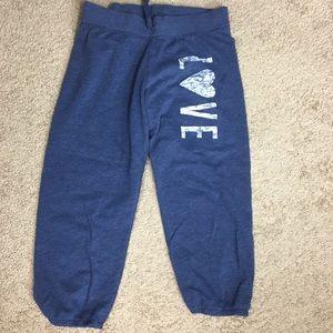 Victoria Secret - Blue Capri Sweatpants